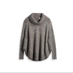 Grey Poncho Pullover Sweater